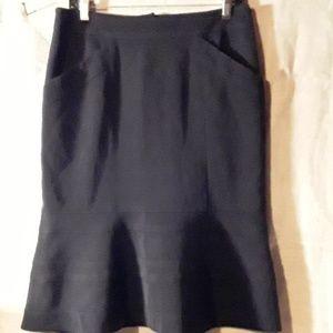 Nanette Lepore black pencil flare skirt